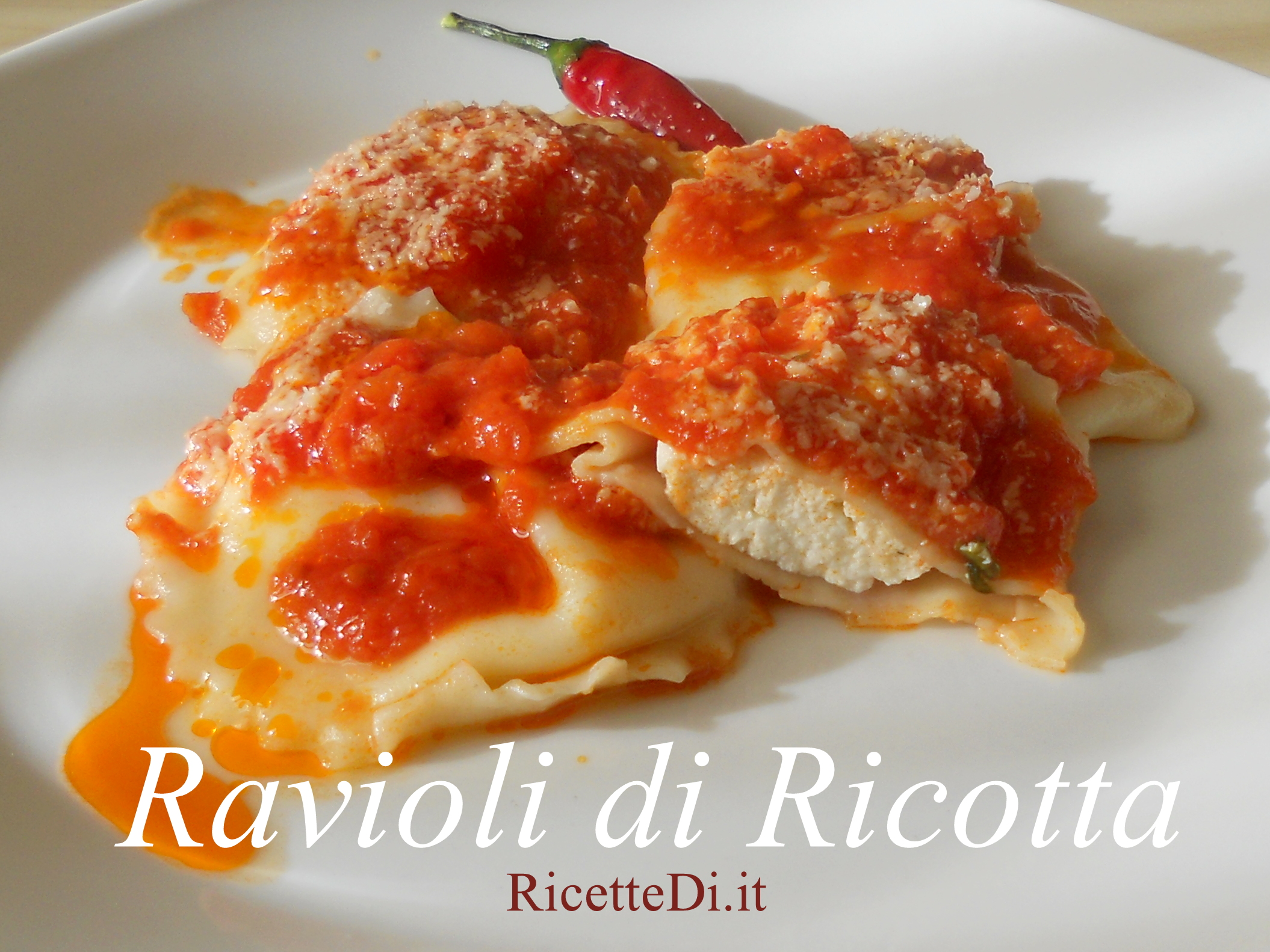 Ricetta Ravioli Con Ricotta.Ravioli Di Ricotta Ricettedi It