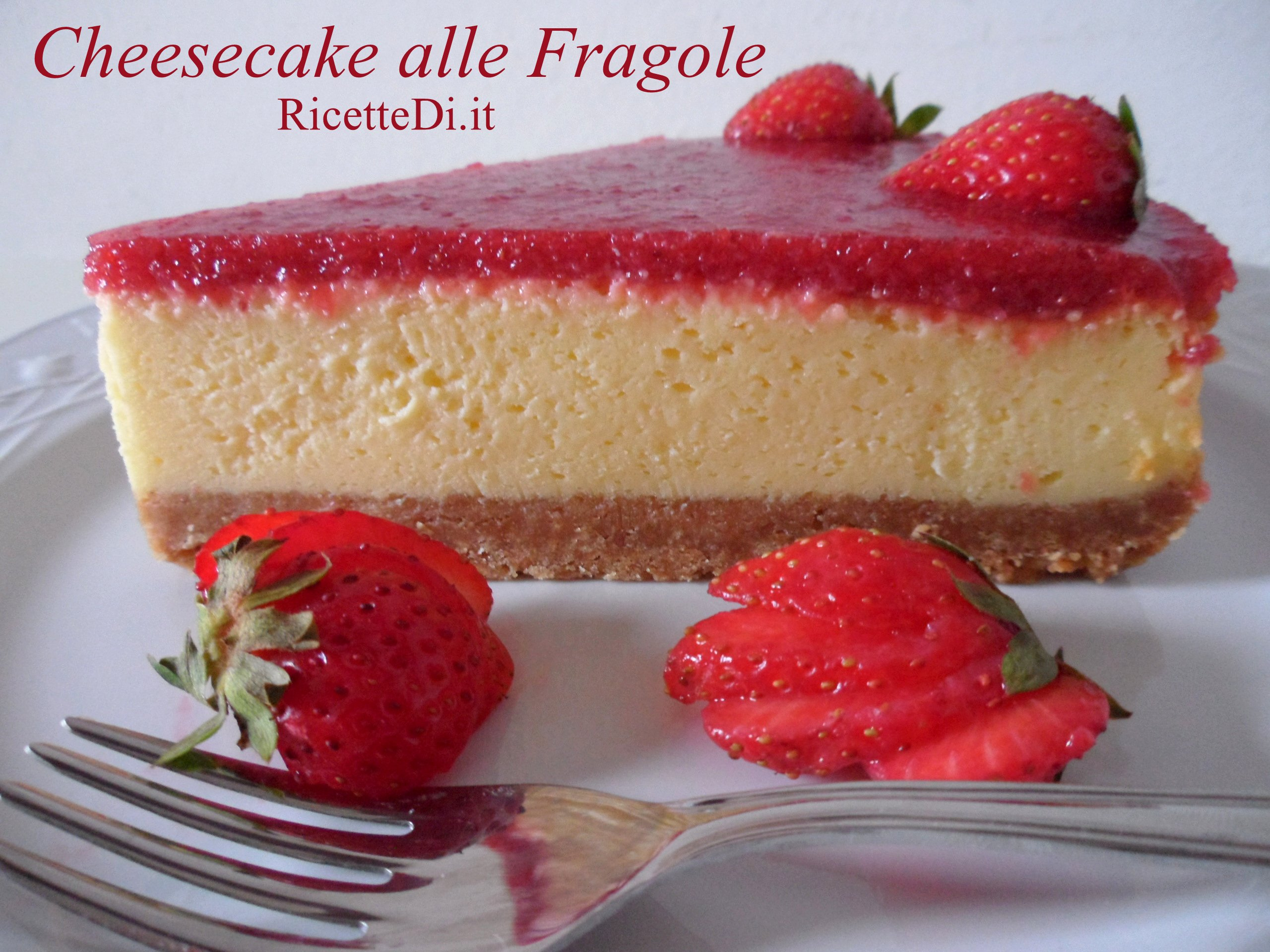 Cheesecake Alle Fragole Ricettedi It