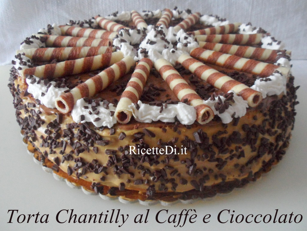 Torta chantilly al caff e cioccolato - Bagno per torte senza liquore ...