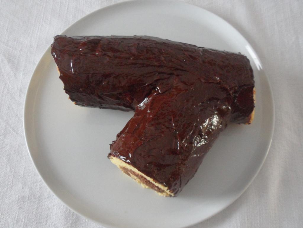 Tronchetto Di Castagne Al Cioccolato Ricettedi.it #5D3B34 1024 770 Ricette Cucina Disegnate