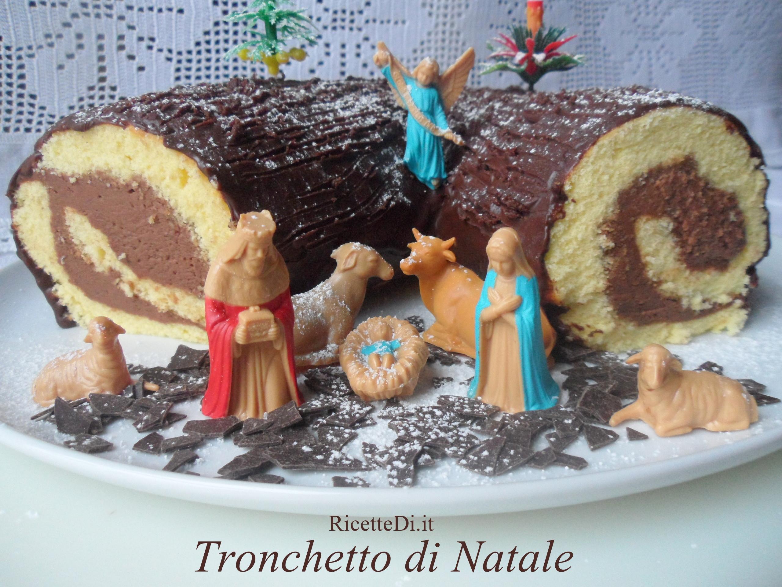 Tronchetto Di Castagne Al Cioccolato Ricettedi.it #336E7D 2560 1920 Ricette Cucina Disegnate
